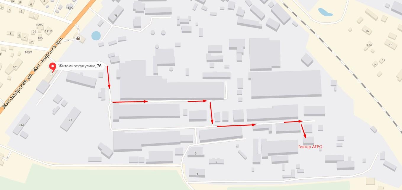 карта проезда до склада